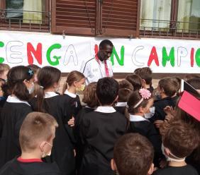 Il campione Ndiaga Dieng incontra gli alunni dell'Istituto Comprensivo di Colmurano