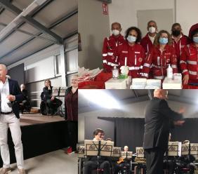 L'orchestra di Fiati a Caldarola, solidarietà a ritmo di musica a favore della Croce Rossa