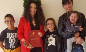 Dominique si laurea in Medicina: gli auguri della famiglia