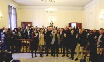 Civitanova, tradizionale scambio di auguri natalizi tra il sindaco Ciarapica e la sua giunta