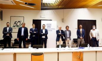 Confindustria Macerata, il neo presidente Sauro Grimaldi presenta la sua squadra (FOTO e VIDEO)
