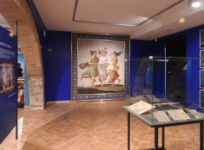 """Tolentino, torna visibile dopo il restauro il dipinto """"Le tre Grazie"""" di Giuseppe Lucatelli"""