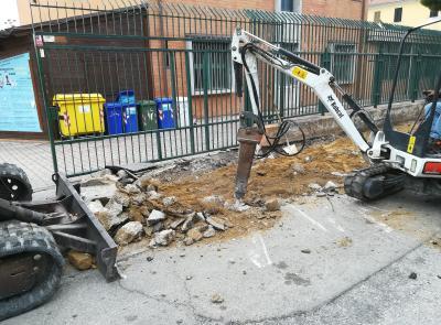 Civitanova, in fase di ultimazione il rifacimento dei marciapiedi e della sede stradale in via Seneca
