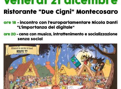 """Montecosaro, """"Non solo chat!"""": venerdì incontro con l'europarlamentare Nicola Danti"""