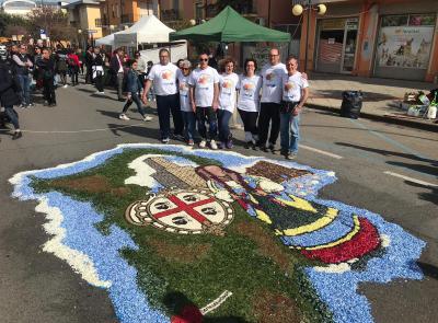 L'Infiorata di Castelraimondo in trasferta a Tortolì