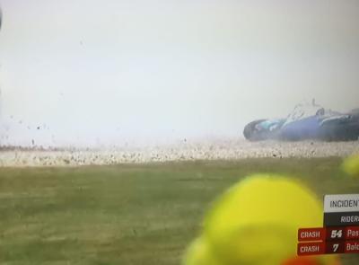 Moto 2, GP di Francia: Lorenzo Baldassarri cade al terzo giro