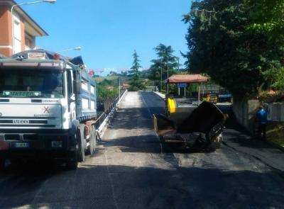 San Severino: nuovo asfalto in via Ariosto, Madonna dei Lumi e via Alighieri