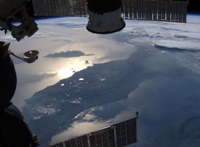 Le Marche viste dallo spazio: la splendida foto dell'astronauta Luca Parmitano