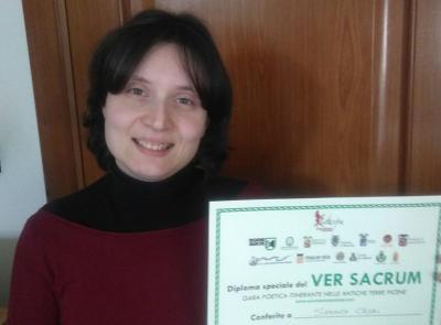 """Secondo posto per la tolentinate Samanta Casali al """"Ver Sacrum"""""""