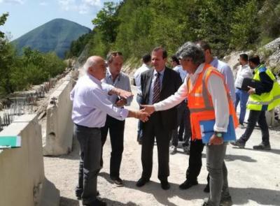 """Castelsantangelo, riapre il cantiere della strada provinciale """"Pian Perduto"""""""