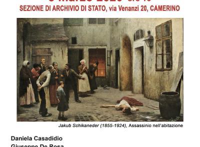 """Camerino, secondo appuntamento di """"DiGiovedì. Incontriamoci in Archivio"""""""