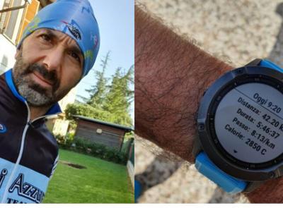 Caldarola, 42 km e circa 6 ore di corsa intorno casa a sostegno della Protezione Civile (FOTO e VIDEO)