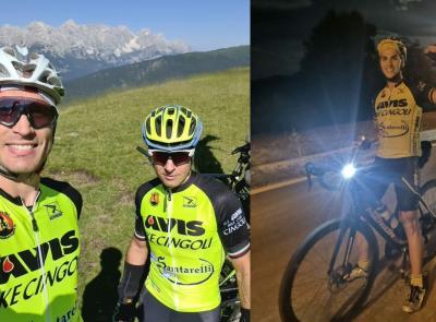 """Cingoli, impresa """"no-stop"""" di Leonardo Buratti: in 16 ore fa il giro delle Marche in bici"""