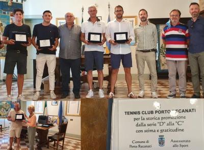 Porto Recanati, storica promozione in serie C per il Tennis Club