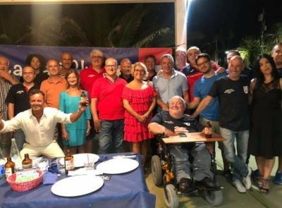 """Cagliari Club, le """"Marche rossoblù"""" fanno festa insieme ai campioni Gianfranco Matteoli e Francesco  Bellucci"""