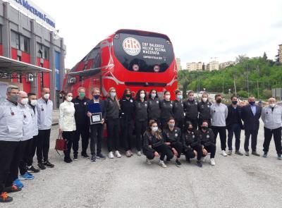 Cbf Balducci Macerata e Contram, un connubio vincente: premiata la squadra con una targa