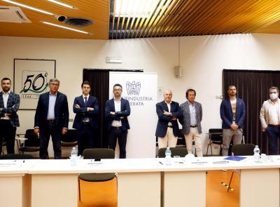 Confindustria Macerata, il neo presidente Sauro Grimaldi presenta la sua squadra (FOTO)