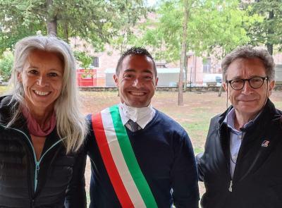 Pieve Torina, una giornata di grande sport al nuovo palazzetto: arrivano le medaglie olimpiche