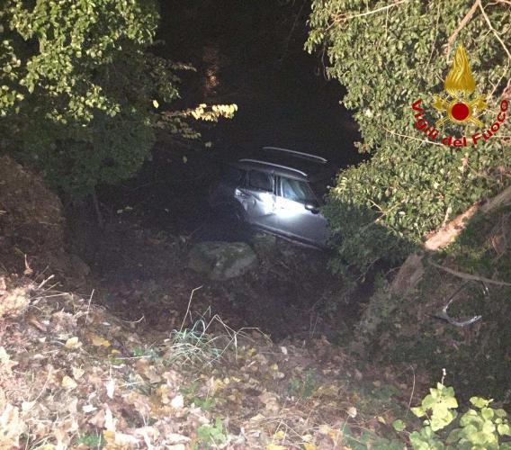 Castelraimondo: con l'auto nel fiume