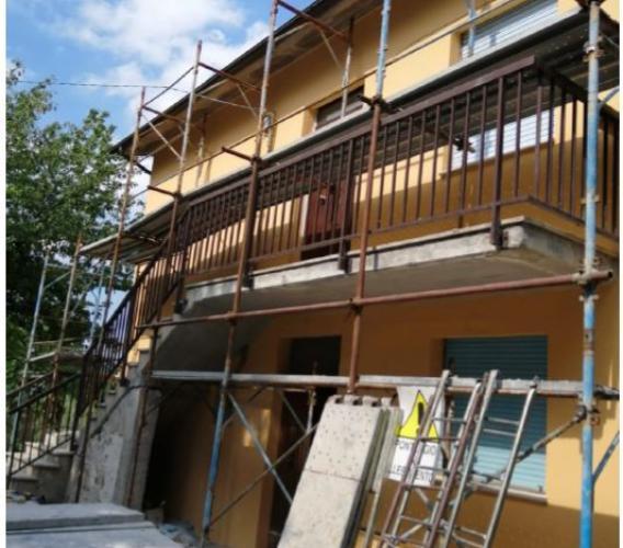 San Severino, torna agibile un'abitazione in località Scaloni: un'altra famiglia torna a casa