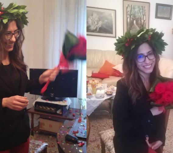 Ripe San Ginesio, Lucrezia si laurea online: festa in casa per la nuova infermiera