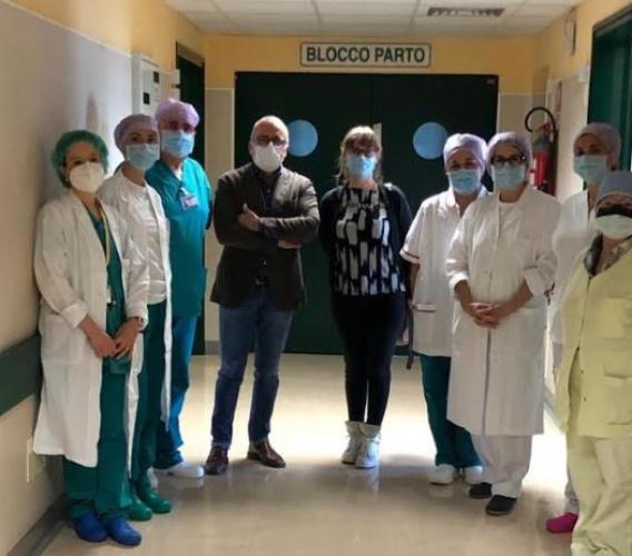 Civitanova, il Reparto di Ostetricia e Ginecologia riparte con un fiocco rosa: la prima nata è Sofia