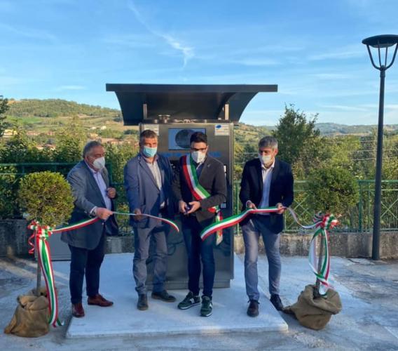 Nuova casa dell'acqua a Belforte: ieri il taglio del nastro