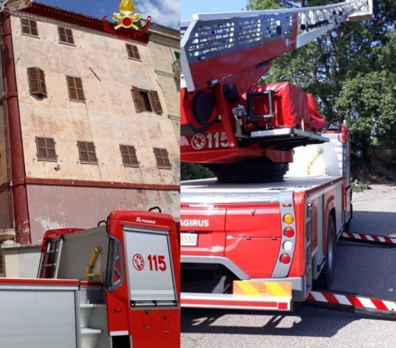 Forte vento colpisce le province di Macerata e Ancona, completati i lavori: 230 gli interventi