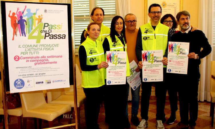 """Civitanova, al via il progetto """"4 Passi che ci Passa"""" per promuovere uno stile di vita sano"""