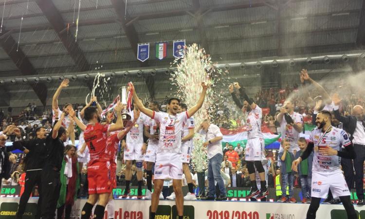 """Lube campione d'Italia, il presidente del Coni Marche: """"Emozione incredibile"""""""