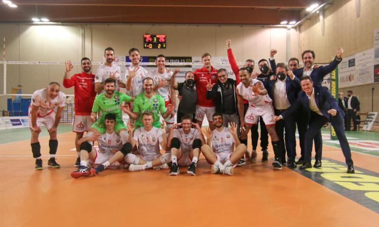 Trasferta vincente per la Med Store Macerata: Prata cede in 3 set