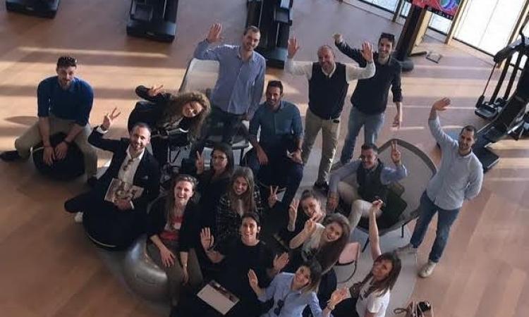 Il gruppo Giovani Imprenditori Confindustria Macerata in visita alla Technogym