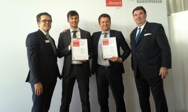 Lorenzo e Piero Paniccia ritirano a Colonia il prestigioso premio internazionale Interzum