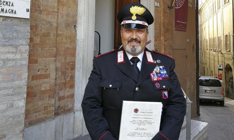 Il maresciallo Faiazza fa tris:  terza laurea per il comandante della Stazione dei carabinieri di Camerino