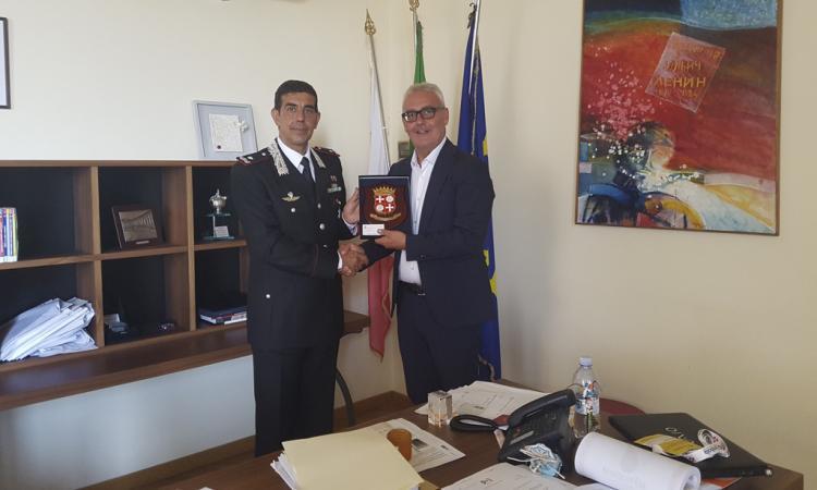 Macerata, il sindaco Carancini riceve la vista del nuovo Comandante dei Carabinieri Marche