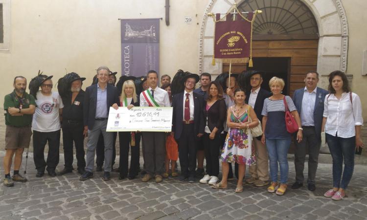 Sisma: A San Severino ventimila euro dal comune di Argenta. Un euro per ogni abitante