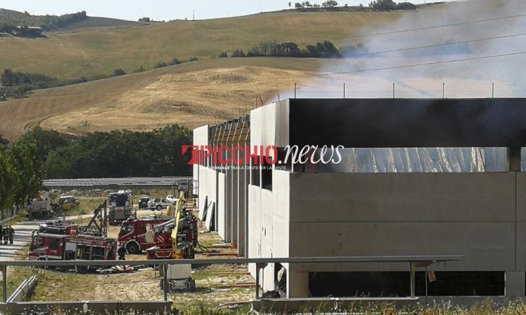 Incendio del 31 luglio a San Severino, scoperto l'involontario responsabile: è un operaio 47enne