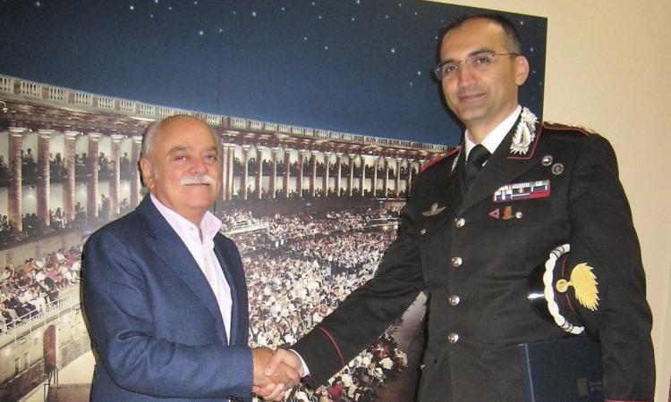 Il nuovo Comandante Provinciale dell'Arma dei Carabinieri è stato ricevuto dal Presidente Pettinari