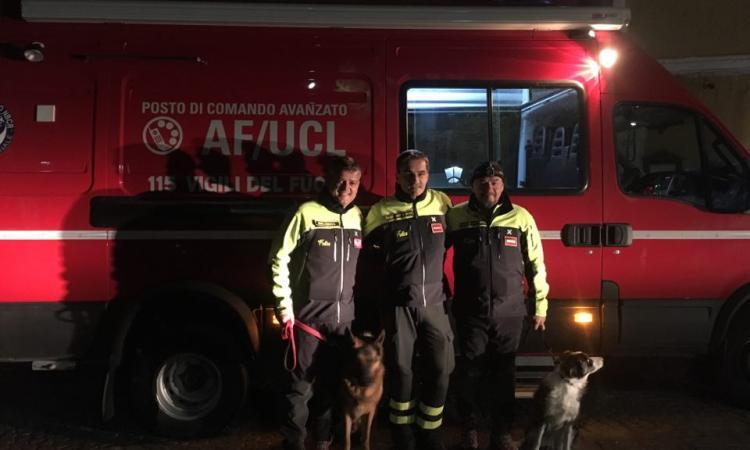 Coppia di anziani si smarrisce tra i boschi di Bolognola: salvati all'alba dai vigili del fuoco