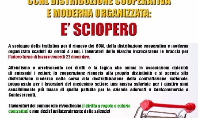 Senza contratto da 4 anni: è sciopero dei lavoratori delle Coop e della distribuzione moderna organizzata