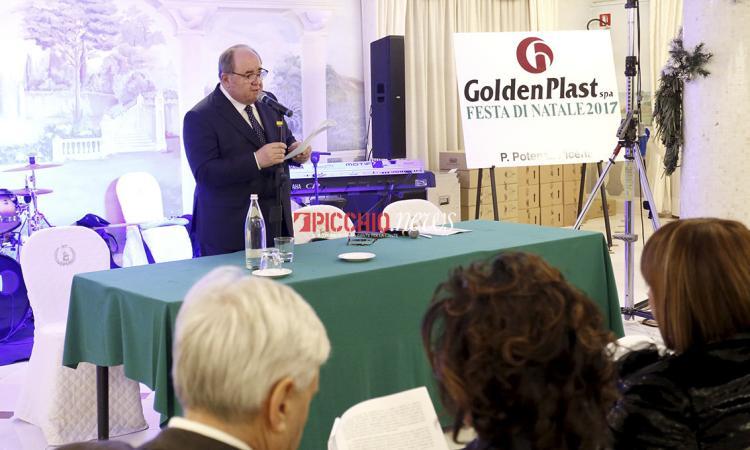 """La GoldenPlast festeggia il Natale, Ercoli: """"Voglio assicurare continuità all'azienda"""" - FOTO"""