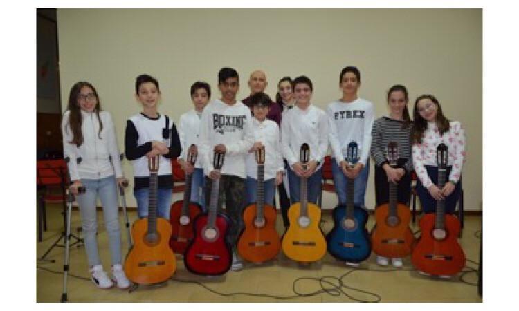 """Tolentino, soddisfazione per i ragazzi del saggio di chitarra all'I.C. """"Don Bosco"""""""