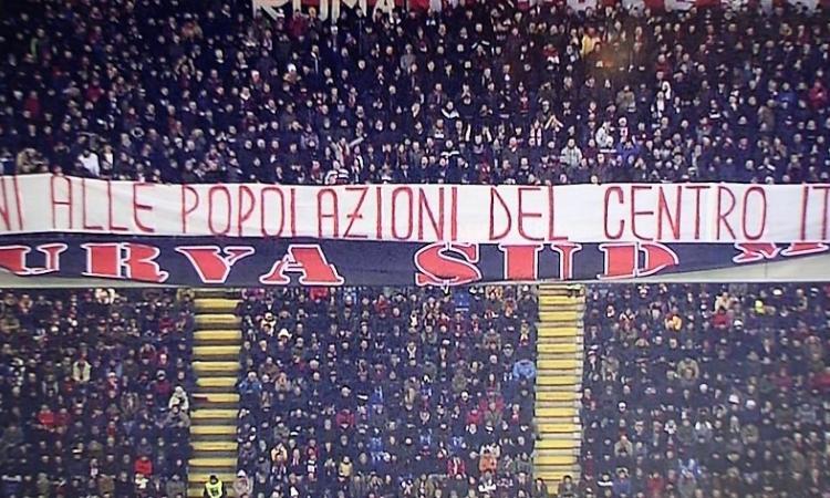 I tifosi del Milan donano 1.300 euro a Camerino