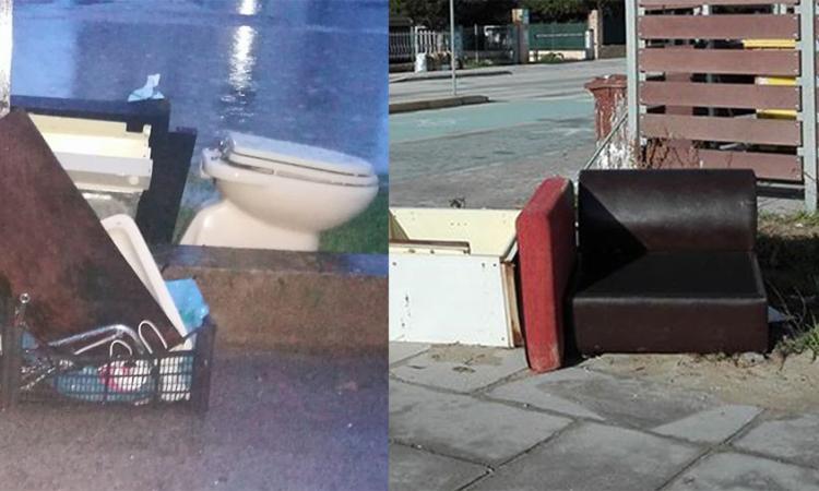 Poltrone, mobili e perfino sanitari in strada ma non c'entra la tradizione: è semplicemente inciviltà