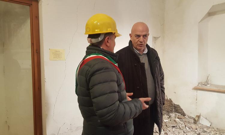 Marco Rizzo visita Gagliole insieme al sindaco Mauro Riccioni