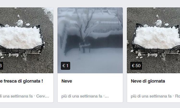 Annunci per vendita neve: la burla corre sul web
