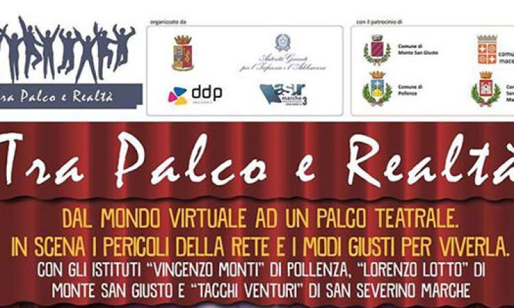 """""""Tra Palco e Realtà"""", al Teatro Lauro Rossi di Macerata gli studenti raccontano la legalità in Rete"""
