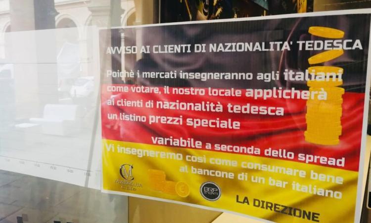 Macerata, al Maracuja i tedeschi pagano il caffè in base allo spread