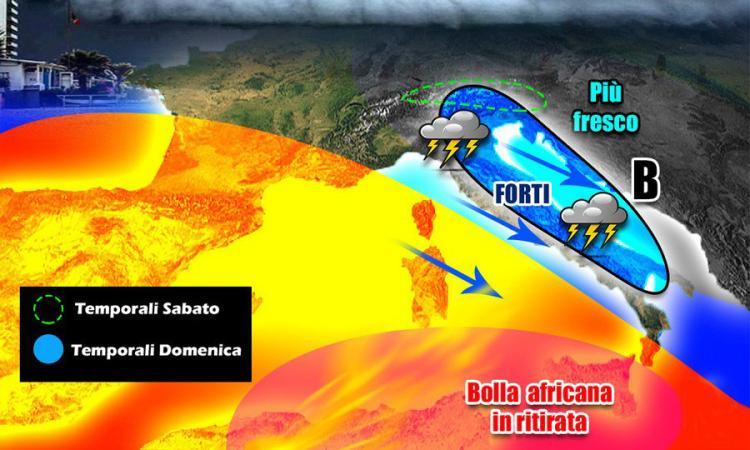 Meteo impazzito: caldo africano fino a sabato e poi lo schiaffo nordico