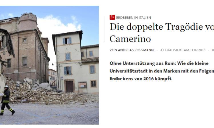 """""""La doppia tragedia di Camerino"""": il Frankfurter Allgemeine punta i riflettori sulla città ducale"""